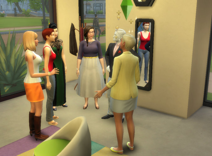 a lot of female sims congregating around our male mannequin.png